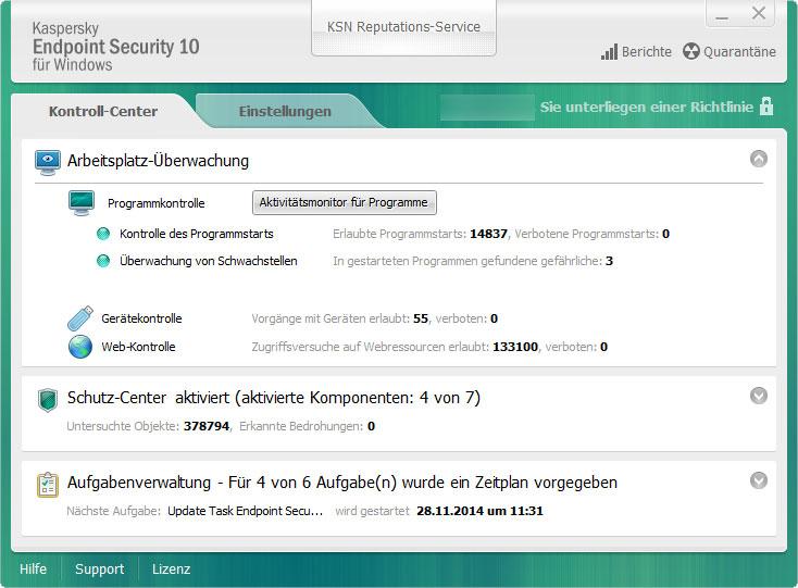 Kaspersky.HOSTED Kaspersky Endpoint 10 Virenschutz
